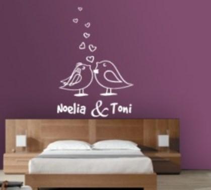 Vinilo decorativo romantico para cabecero de cama - Vinilos para cabeceros ...