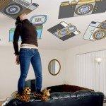 ¡Qué buena idea! Decorar el techo