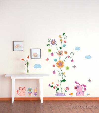 Vinilo decorativo arbol infantil vinilos decorativos for Vinilo habitacion bebe nina