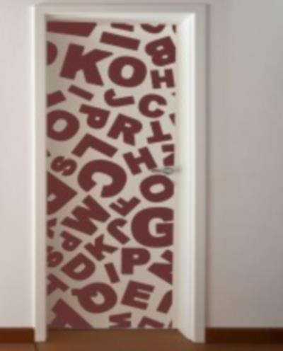 Vinilo decorativo sopa de letras para puerta vinilos decorativos - Puertas decoradas con vinilo ...