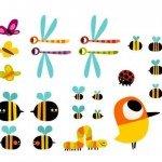 insectos simpáticos para la habitación infantil