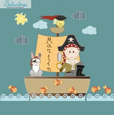 Vinilo Decorativo Barco Pirata