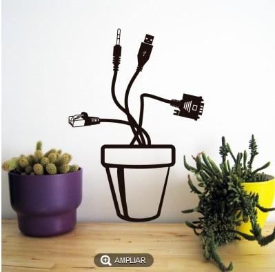 Vinilo decorativo planta artificial vinilos decorativos - Vinilos decorativos enchufes ...