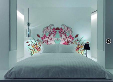 Vinilo decorativo cabecero de cama floral vinilos for Vinilo cabecero cama