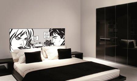 Vinilo decorativo cabecero de cama con comics vinilos - Vinilos para pared dormitorio juvenil ...