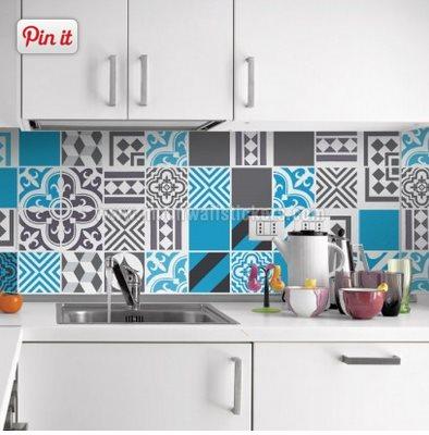 Azulejos adhesivos para la cocina vinilos decorativos Vinilo para azulejos