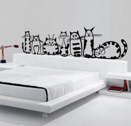 Vinilo decorativo familia de gatos vinilos decorativos Murales decorativos para exteriores