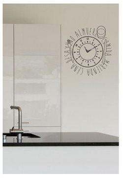 Vinilo decorativo reloj para cocina vinilos decorativos - Relojes de pared cocina ...