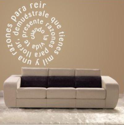 Vinilo decorativo personalizado texto en espiral vinilos - Vinilos decorativos hogar ...