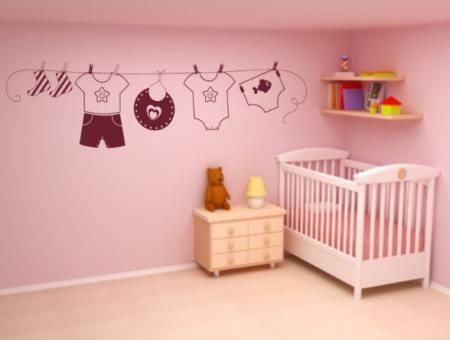 Hermoso detalle adhesivo para el dormitorio infantil for Vinilos infantiles para ninos