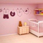 Hermoso detalle adhesivo para el dormitorio infantil