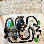 Hermoso diseño infantil para decorar el suelo