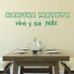 "Hakuna matata ""vive y se feliz"""