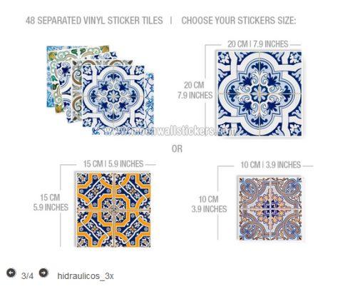 Vinilo decorativo azulejos estilo portugues vinilos decorativos - Adhesivo para azulejos ...