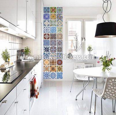 Vinilo decorativo azulejos estilo portugues vinilos for Azulejos decorativos cocina