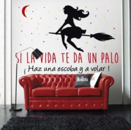 Mot vate hasta en las paredes vinilos decorativos for Frases en vinilo para dormitorio