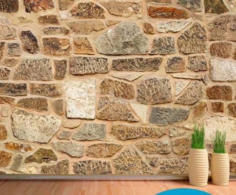 Fotomural pared de piedra vinilos decorativos - Piedra decorativa para paredes ...