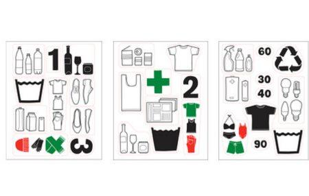 Pegatinas para clasificar residuos