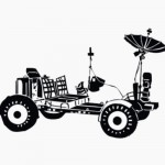 Vinilo Decorativo Rover Lunar