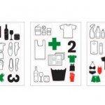Pegatinas para clasificar objetos y residuos