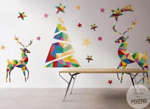 Qu interesante rbol navide o adhesivo vinilos - Vinilos decorativos de navidad ...