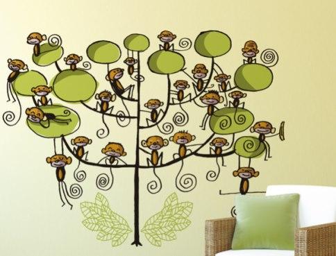 Vinilo decorativo mil monos vinilos decorativos Vinilos infantiles de arboles