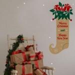 El típico calcetín de Navidad en tu pared