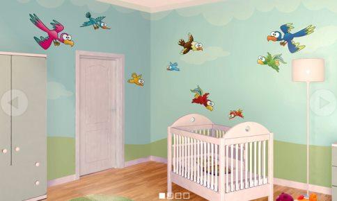 Vinilo decorativo para la habitacion infantil vinilos for Decoraciones en vinilo para habitaciones