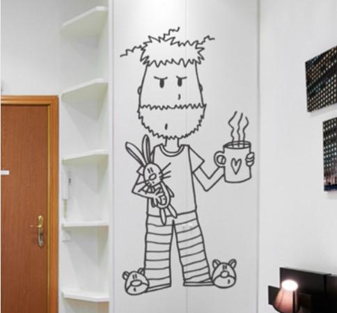 Vinilo decorativo pijama vinilos decorativos - Dibujos para decorar paredes de dormitorios ...