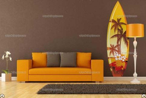 Vinilo decorativo tabla de surf vinilos decorativos - Tablas de surf decorativas ...