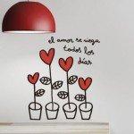 Ideal este vinilo decorativo para San Valentín