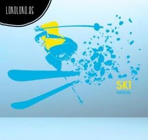 Vinilo Decorativo esquiador
