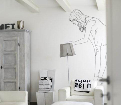 Vinilo decorativo mujer curiosa vinilos decorativos for Vinilos para pared habitacion matrimonio