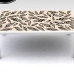 Hermoso dibujo adhesivo para decorar una mesa