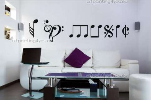 Vinilo decorativo i love you vinilos decorativos for Vinilos musicales
