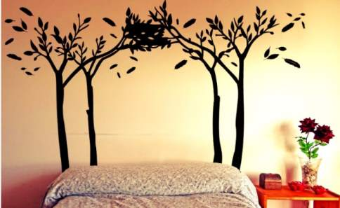 original cabecero de cama lleno de naturaleza