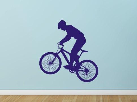 Mountain bike un vinilo s per juvenil vinilos decorativos for Vinilos juveniles chico