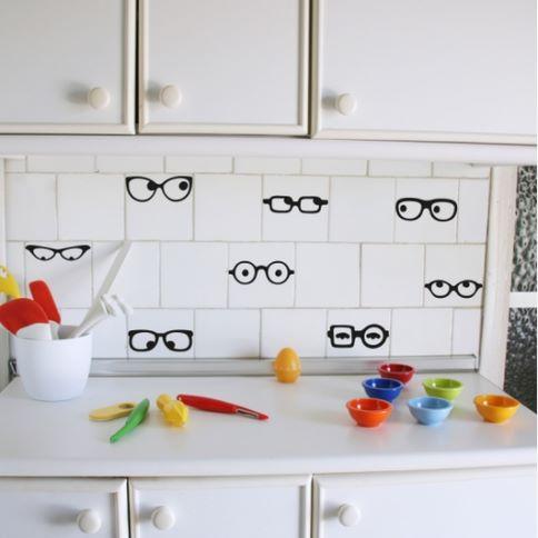 Vinilo decorativo gafas hipster vinilos decorativos - Vinilo para azulejos ...