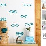 Hermosa creación con gafas y ojos para decorar cualquier opción