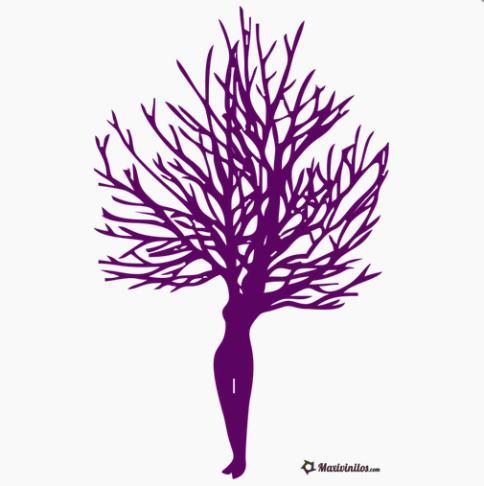 vinilo-decorativo-arbol-mujer