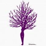 Hermosa fusión de árbol-mujer