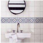 Azulejos adhesivos hermosos para el baño