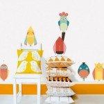 ¡Qué pájaros más decorativos!