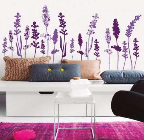 Vinilo decorativo lavanda vinilos decorativos - Vinilos pared comedor ...