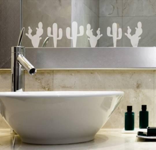 Vinilo decorativo cenefa de cactus vinilos decorativos - Cenefas para espejos ...