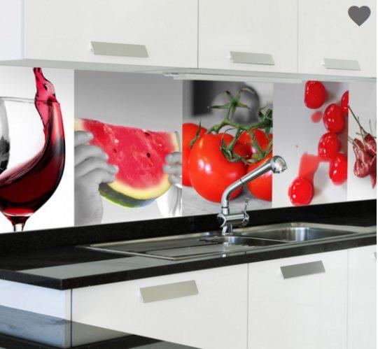 Vinilo decorativo con alimentos rojos para la cocina - Vinilos para cocinas ...