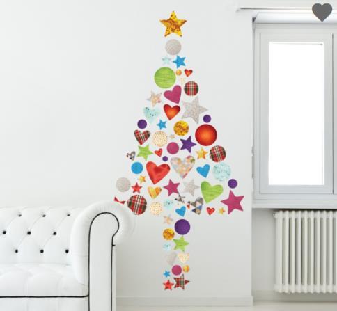 Vinilo decorativo arbol de navidad vinilos decorativos - Decorativos para navidad ...