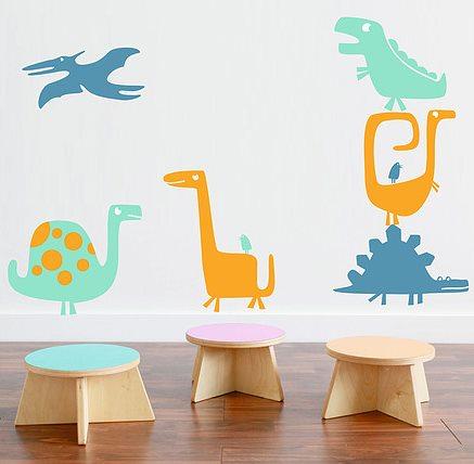 Precioso vinilo decorativo lleno de dinosaurios vinilos for Vinilos decorativos de ninos