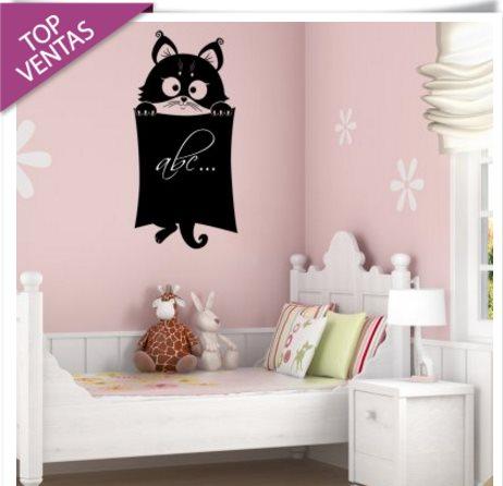 Vinilo decorativo gato con pizarra vinilos decorativos - Vinilo pizarra cocina ...