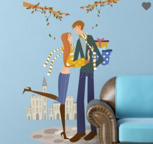vinilo-decorativo-pareja-otoño